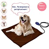 12 Volt Pet Heating Pad for Dogs Cats with 7 Adjustable Temperature Chew Resistant Cord Soft Removable Cover Indoor Outdoor Waterproof Pet Heated Pad Electric Microwavable Animal Heating Pad