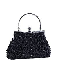 APXPF Women's Vintage Beaded Evening Bag Wedding Party Handbag Clutch Purse