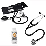 3M Littmann Cardiology Iv™ Stethoscope With Prestige Medical Basics Aneroid Sphygmomanometer & Praveni Cleaning Kit Black