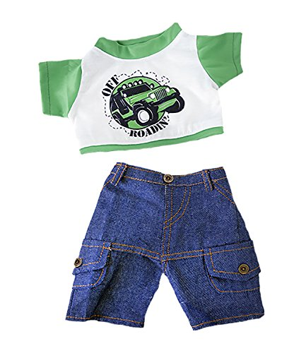 Off Roading Outfit w/Cargo Jeans Outfit Teddy Bear Clothes Fits Most 14
