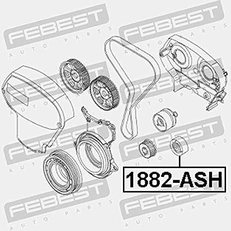 Rodillo de la cambio correa de distribución completo. febest Color 1887-ash: Amazon.es: Coche y moto