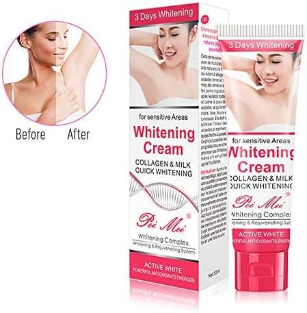 Whitening Cream, Sky-shop Body Cream for Dark Skin, Neck, Sensitive Areas,Elbow, Inner thigh, Knee Body Armpit Cream Skin Beauty Whitening Skin Care (Red)