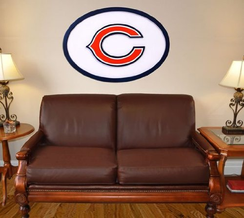 NFL Logo Graphic Art Plaque NFL Team: Chicago - Art Wall Logo 46 Inch