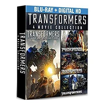 amazon com transformers complete 4 movie collection blu ray