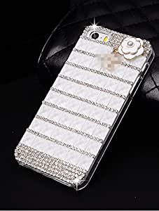 M.M Hottest Luxury Shining Bling 3D Romantic Purple Color Crystal Diamond DIY Case Cover for IPhone 5/5S