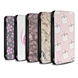 STUFF4 PU Leather Wallet Flip Case/Cover for Apple iPhone X/10 / Pack 12pcs Design / Pink Fashion Collection