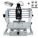 CNC DIY Router Wood Engraving Machine, 2417 GRBL Control Wood Carving Milling Engraving Machine USB Desktop Engraving Carving Machine(Working area 24x17x6.5cm, 3 Axis, 110V-240V)