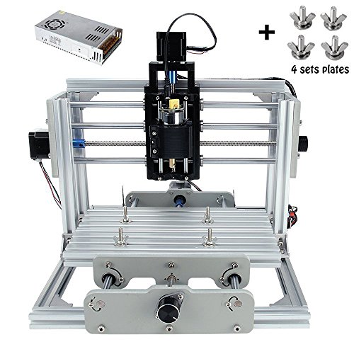 CNC DIY Router Wood Engraving Machine, 2417 GRBL Control Wood Carving Milling Engraving Machine USB Desktop Engraving Carving Machine(Working area 24x17x6.5cm, 3 Axis, 110V-240V) by MYSWEETY