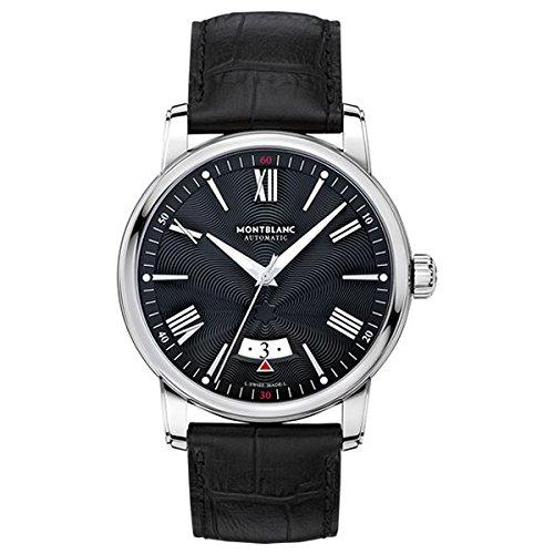 Montblanc Watches Reloj Analógico para Hombre de Automático con Correa en Cuero 115122