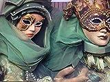 Green Twins Elegant Costume Mask