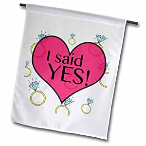 "3dRose fl_161154_2 I Said Yes Garden Flag, 18 by 27"""