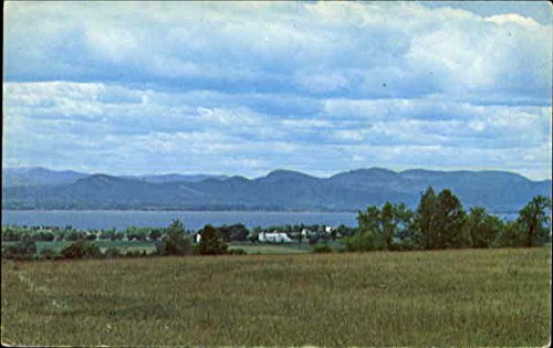 A Scenic View Of Lake Champlain, Route 7 Charlotte, Vermont Original Vintage Postcard