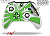 Rising Sun Japanese Flag Green - Decal Style Skin fits Microsoft XBOX One S and One X Wireless Controller