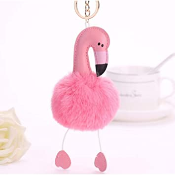 LivelyBuy Llavero de Flamenco Rosa con diseño de Animales de Peluche