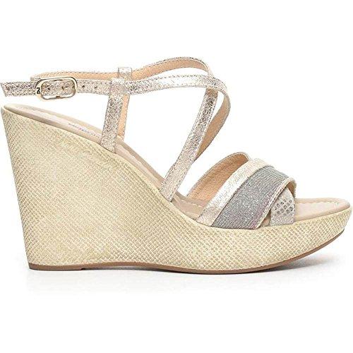 Nero Giardini Sandalo Donna Alto in Pelle Platino P717622D 415