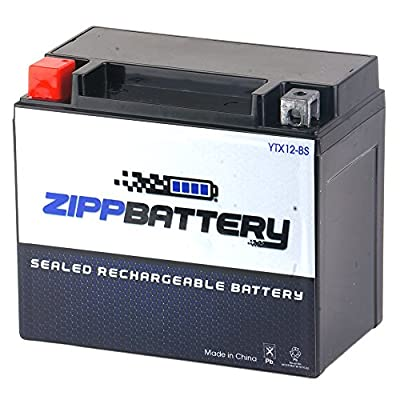 Chrome Battery YTX12-BS High Performance Maintenance Free Sealed Motorcycle Battery