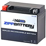 Zipp Battery YTX12-BS High Performance-Maintenance Free-Sealed AGM Motorcycle