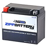 Chrome Battery YTX12-BS High Performance - Maintenance Free - Sealed AGM Motorcycle Battery