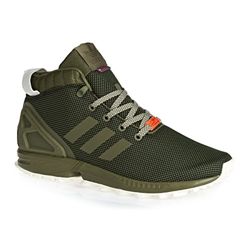 Les Hommes Adidas Zx Flux 5,8 Tr Chaussures De Sport, Vert Noir (olicar / Cblack Cwhite Olicar Cwhite)