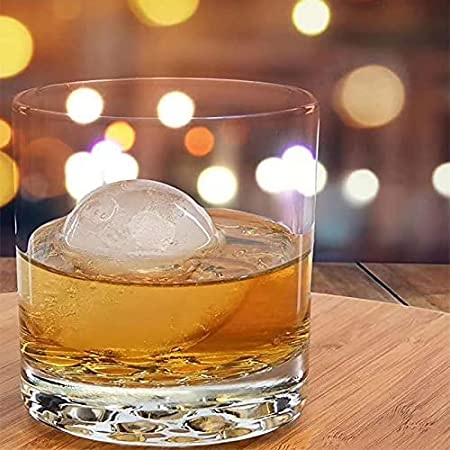 libelyef Molde de bola de hielo de 4 bolas, molde de cubitos de hielo para whisky, ginebra, cóctel, limonada congelada