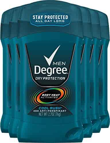 Degree Men Dry Protection 48 Hour Antiperspirant, Cool Rush 2.7 oz (Pack of 6) (Packaging May Vary)