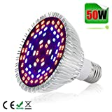 50W LED Grow Light Bulb,Alimu Grow lamp for Indoor Plants, Plant Lights Bulb for Indoor Garden Greenhouse Vegetable and Hydroponic Plants Full Spectrum (E27 78leds)