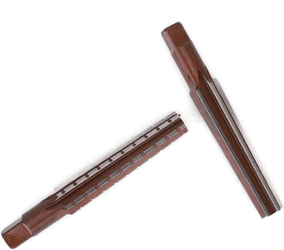 2 st/ücke Reibahlen Gesetzt Kohlenstoffstahl Metric Zylinderschaft Hand Reibahle Fein Morsekegel Reibahle HSS Morse Schneidwerkzeuge MT1#