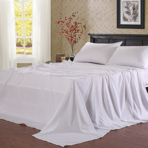 Balichun Microfiber Bed Sheet Set Super Soft Sheets with 18-Inch Deep Pocket, Twin XL, White