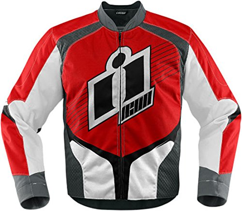 Icon Overlord 2 Textile Motorcycle Jacket Mens Red Medium