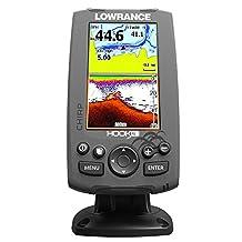 Lowrance Hook-4 Sonar/GPS Mid/High/Downscan Navionics+ Fishfinder