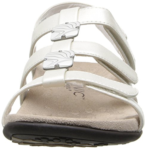 Orthaheel Womens Amber Vionic White Navy Wide Sandal Slide 10 5Iv5qw
