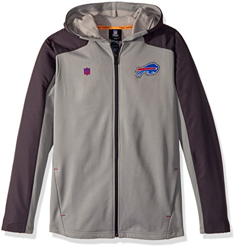 NFL Youth Boys Delta Full Zip Jacket-Magna Pique Heather-L(14-16), Buffalo Bills