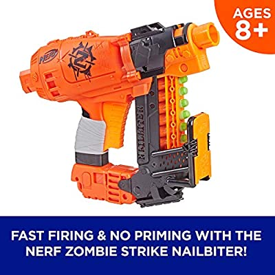 Nailbiter Nerf Zombie Strike Toy Blaster – 8 Official Nerf Zombie Strike Elite Darts, 8-Dart Indexing Clip – Survival System – For Kids, Teens, Adults: Toys & Games