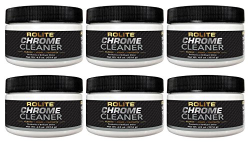 - Rolite Chrome Cleaner (4.5oz) for All Chrome Plated Surfaces. Motorcycles, Automobiles, Boats, RVs, Bumpers and Much More 6 Pack