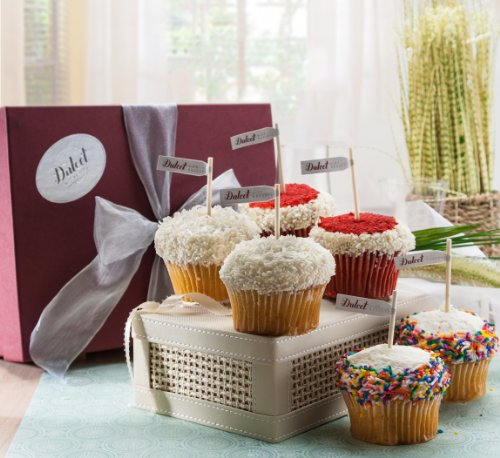 Vanilla Cupcake Sampler Gift Box -6 Count