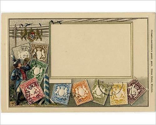 Prints Prints Prints 10x8 Print of Stamp Card produced by Ottmar Zeihar - Bavaria, Germany (14393715) - Bavaria Stamp