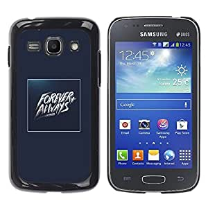 Shell-Star Arte & diseño plástico duro Fundas Cover Cubre Hard Case Cover para Samsung Galaxy Ace 3 III / GT-S7270 / GT-S7275 / GT-S7272 ( Forever Always Gold Blue Baywatch )