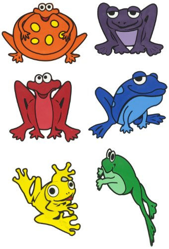 Poly Enterprises Vinyl Poly Frog, Assorted Colors, 11