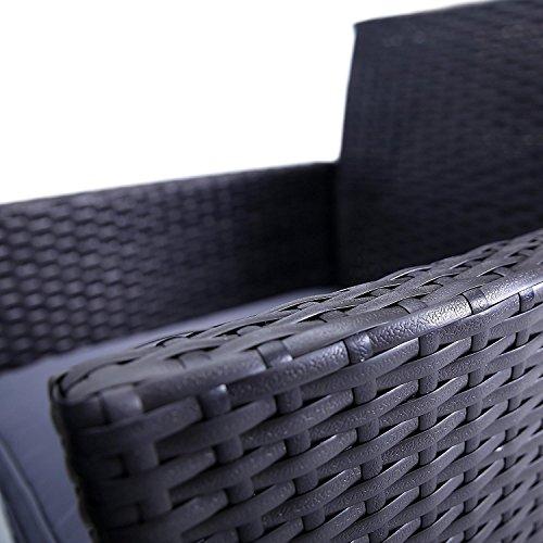 oor Manhattan Rattan 4 Pcs Patio Furniture Set Rattan Set Wicker Doll Furniture Chairs ()
