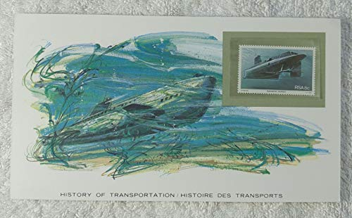 The Submarine - Postage Stamp (South Africa, 1982) & Art Panel - The History of Transportation - Franklin Mint (Limited Edition, 1986) - Watercraft, Submersibles, Underwater