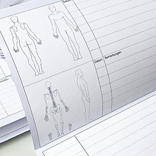 1000 St/ück Patientenkarteikarten 170//m2 Karteikarten A5 Praxiskarten