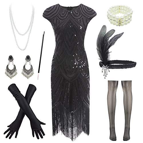 1920s Flapper Dress Roaring 20s Great Gatsby Fringed