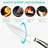 Pohaku 8 inch Professional Multipurpose Chef Knife, Ultra Sharp, Wear Resistant, Anti Corrosion Kitchen Knife made with German High Carbon Stainless Steel, Ergonomics Handle