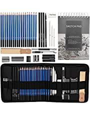 Drawing Pencils Sketch Art Set-40PCS Drawing and Sketch Set Includes 18 Sketching Graphite Pencils,Graphite and Charcoal Pencils,100Pages Sketch Pad and Accessories