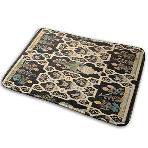 White Moroccan Marble,Rug Floor Mats for High Traffic Areas, Easy Clean (Marbles Trapper)