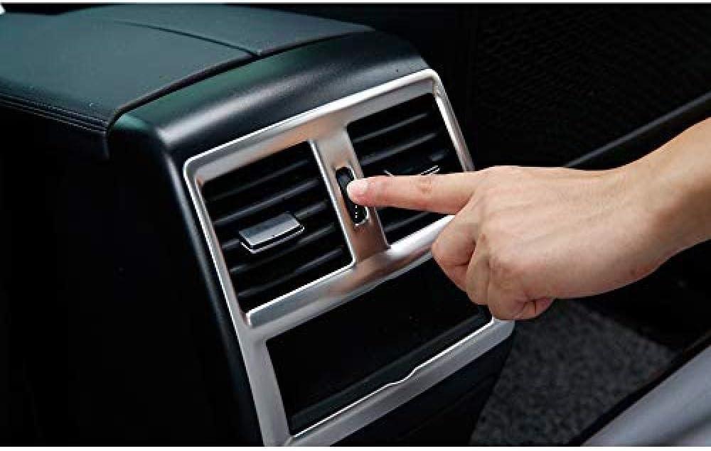 D/écoration de Sortie de climatisation de Voiture pour Mercedes Benz ML350 320 2012 GL X166 GLE coup/é C292 amg W166 350d GLS///Couverture de Cadre de climatisation en Carbone