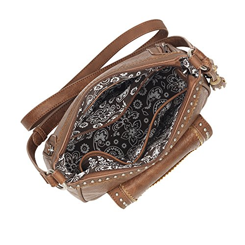 by Purse Bandana Wallet Crossbody Organizer Concealed Copper with Carry Matching v0Bw6