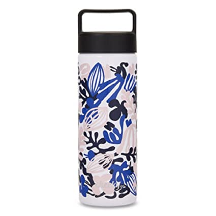 33c8c73fc6 Cheeky Go 20 oz Insulated Stainless Steel Water Bottle with Screw Lid, Blue  Floral