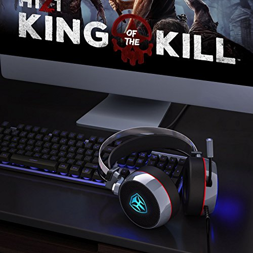 PC Gaming Headset with Mic, 3D Surround Sound Headphones