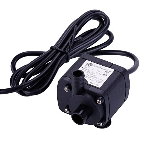 ZHUOTOP DC 12V Water Circulation Pump Electric Mini Submersible motor pump for Hydroponics Medical Cooling by ZHUOTOP